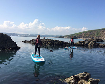 1 Gudied Coastal Stand Up Paddle tour in Cornwall