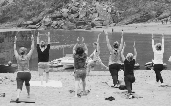 Beach Yoga Cornwall 2018