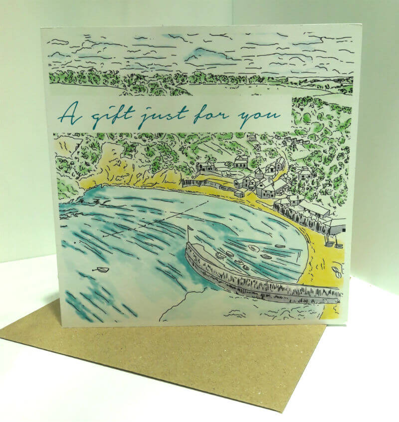 polkerris beach gift card front 2