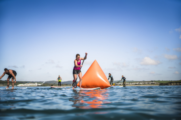 Polkerris Beach SUP Race Event Cornwall 2019