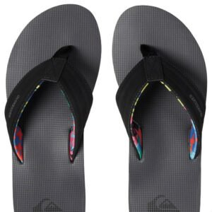 f615cd595c9 Quiksilver Black Flip Flops with Coloured Straps