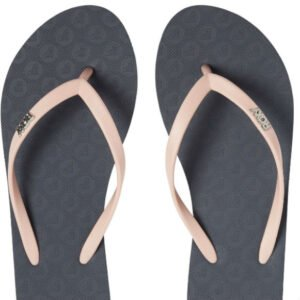 df6d20735 Roxy Black with Peach Strap Flip Flops