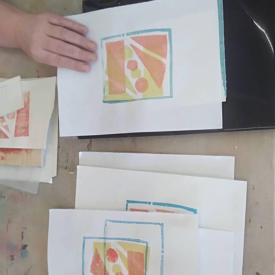 Japanese Woodblock printing course cornwall 2019