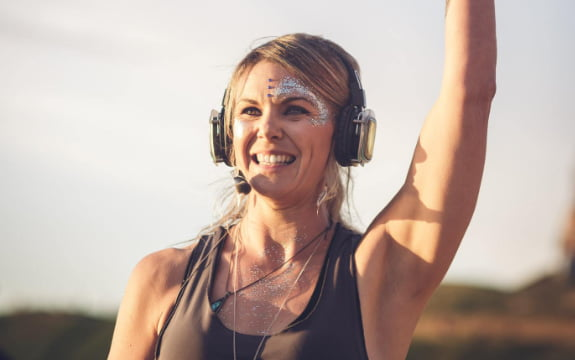 Silent Disco Beach Yoga South Coast Cornwall