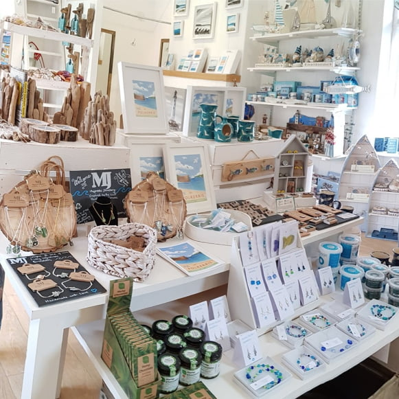 Gallery and Beach Shop Cornwall Polkerris Beach