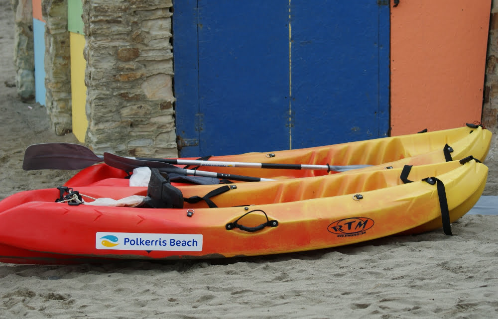 Double Kayak hire at Polkerris Beach