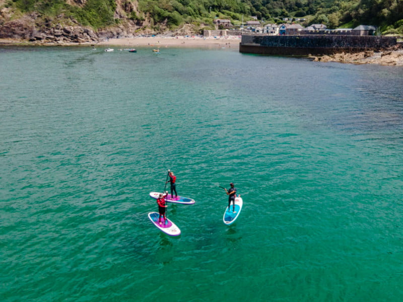 polkerris-beach-cornwall-Stand-Up-Paddle-Board-Adult-SUP-Club