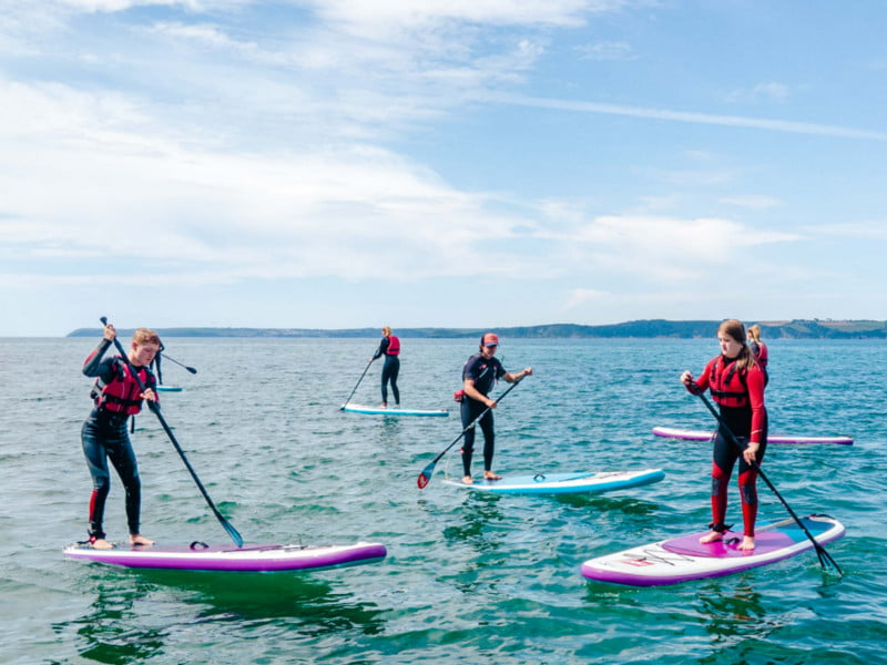 polkerris-beach-cornwall-Stand-Up-Paddle-Board-lesson
