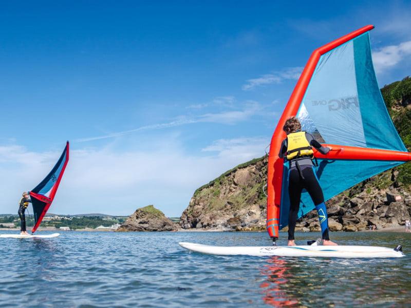 polkerris-beach-cornwall-windsurf-stage2-lesson